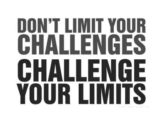 Text Challenge your limits