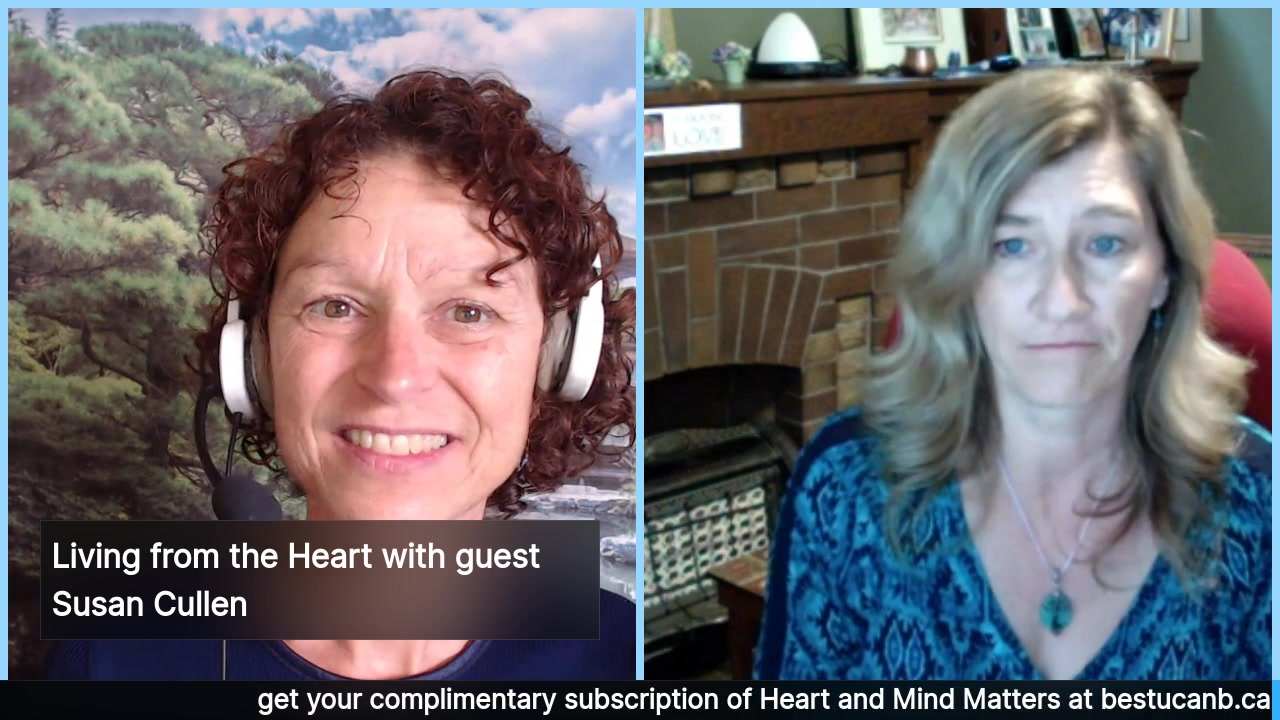 Living from the Heart Episode 6:  Aug 28. This 30 minute Live Show Celebrates living with Purpose and Passion with the deeply heart-centered Susan Cullen. Tune in for Susan's interesting perspective…