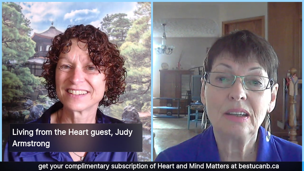Living from the Heart Episode 8: rescheduled to  Sept 12, 2019. This 30 minute Live Show Celebrates living with Purpose and Passion with passionate performer, Judy Armstrong. Tune in to feel the love …