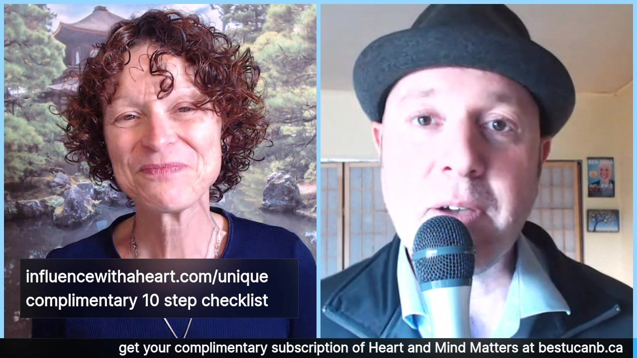 "Living from the Heart Episode 11 with Ben Gioia: Oct 2, 2019.  This 30 minute Live Show Celebrates living with Purpose and Passion with Ben Gioia (""joya""), creator of the Influence With A Heart Me…"