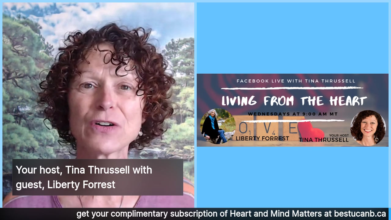 Living from the Heart Episode 13 with Liberty Forrest:  Oct 16, 2019.  Tune in for an insightful conversation about beauty and love between Author/Speaker, Liberty Forrest and your show host, Tina Thr…