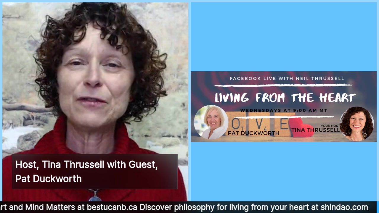 Living from the Heart Episode 22 with Pat Duckworth: Jan 8, 2020.  Your show host, Tina Thrussell, chats with the lovable Pat Duckworth, who is definitely a woman who lives from her heart. Pat is pass…