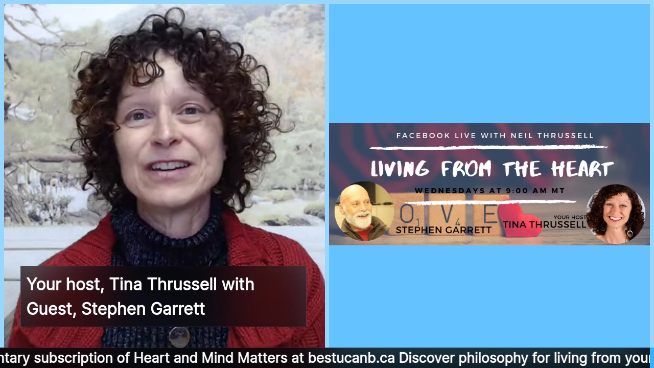 Living from the Heart Episode 23 with Stephen Garrett: Jan 15, 2020. For the more than 15 years that your show host, Tina Thrussell, has known her guest, Stephen Garrett, she has watched him dedicate …