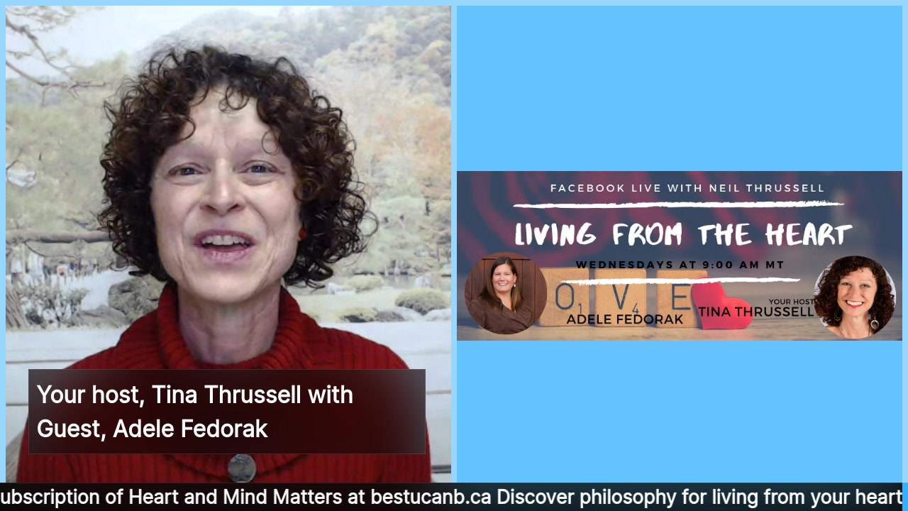 Living from the Heart Episode 25 with Adele Fedorak – Jan 29, 2020.  Your show host, Tina Thrussell, chats with Adele Fedorak, a Speech-Language Pathologist and Leadership Coach who believes that ever…