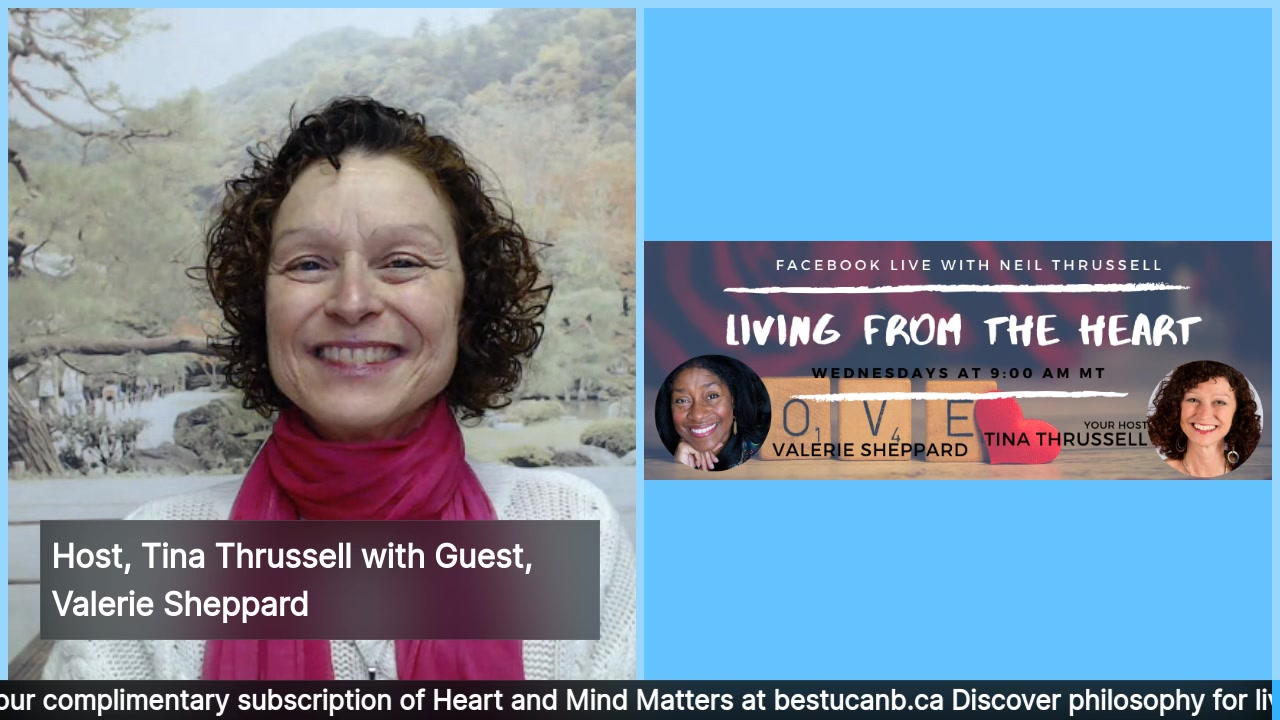 Living from the Heart Episode 26 with Valerie Sheppard – Feb 5, 2020. Note: THIS SHOW AIRS  at 11am.  Tune in for an insightful conversation about feeling happy and whole between your show host, Tin…